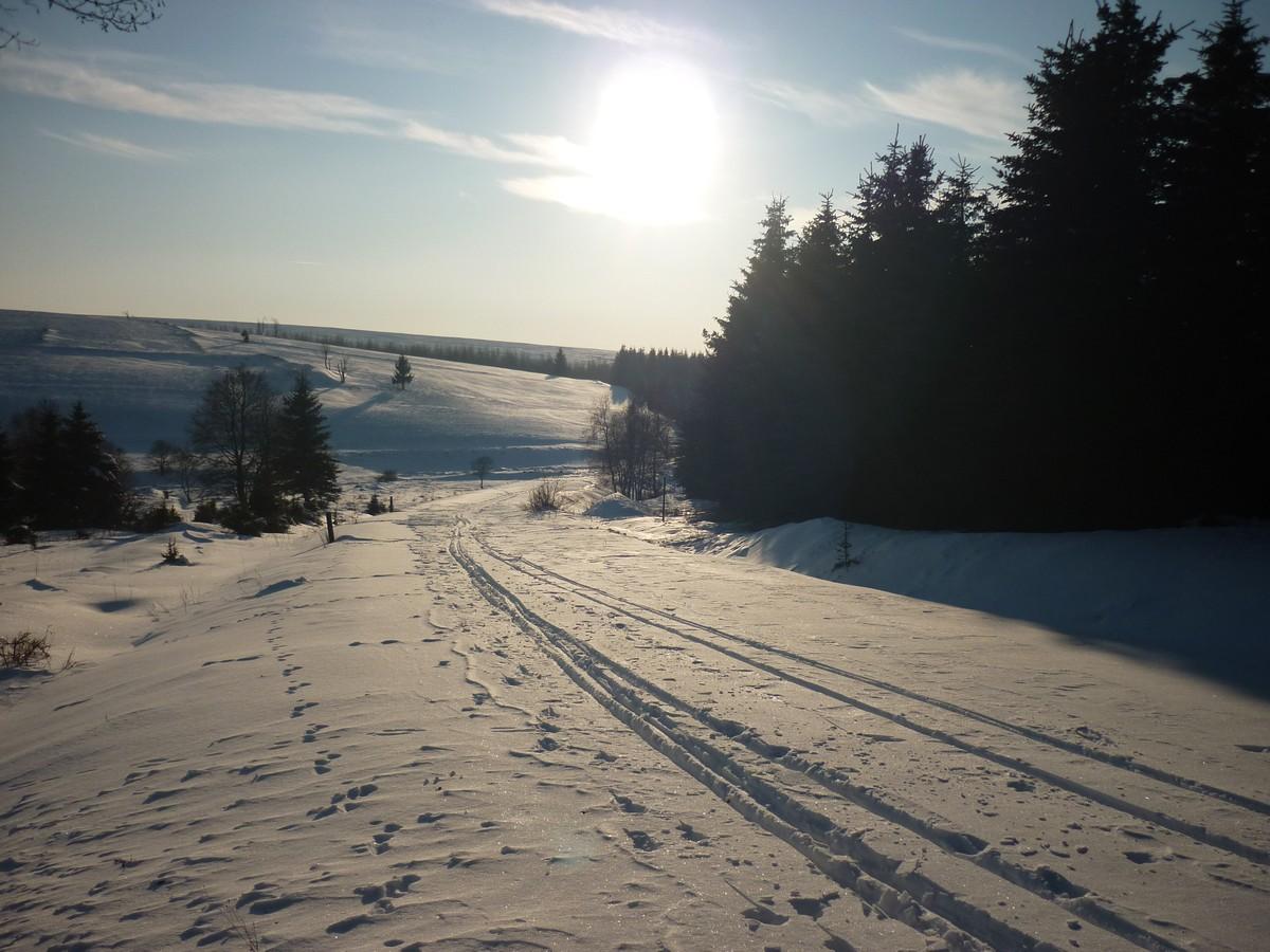 Nicht maschinell gespurter Abschnitt nahe der Preßnitztalsperre