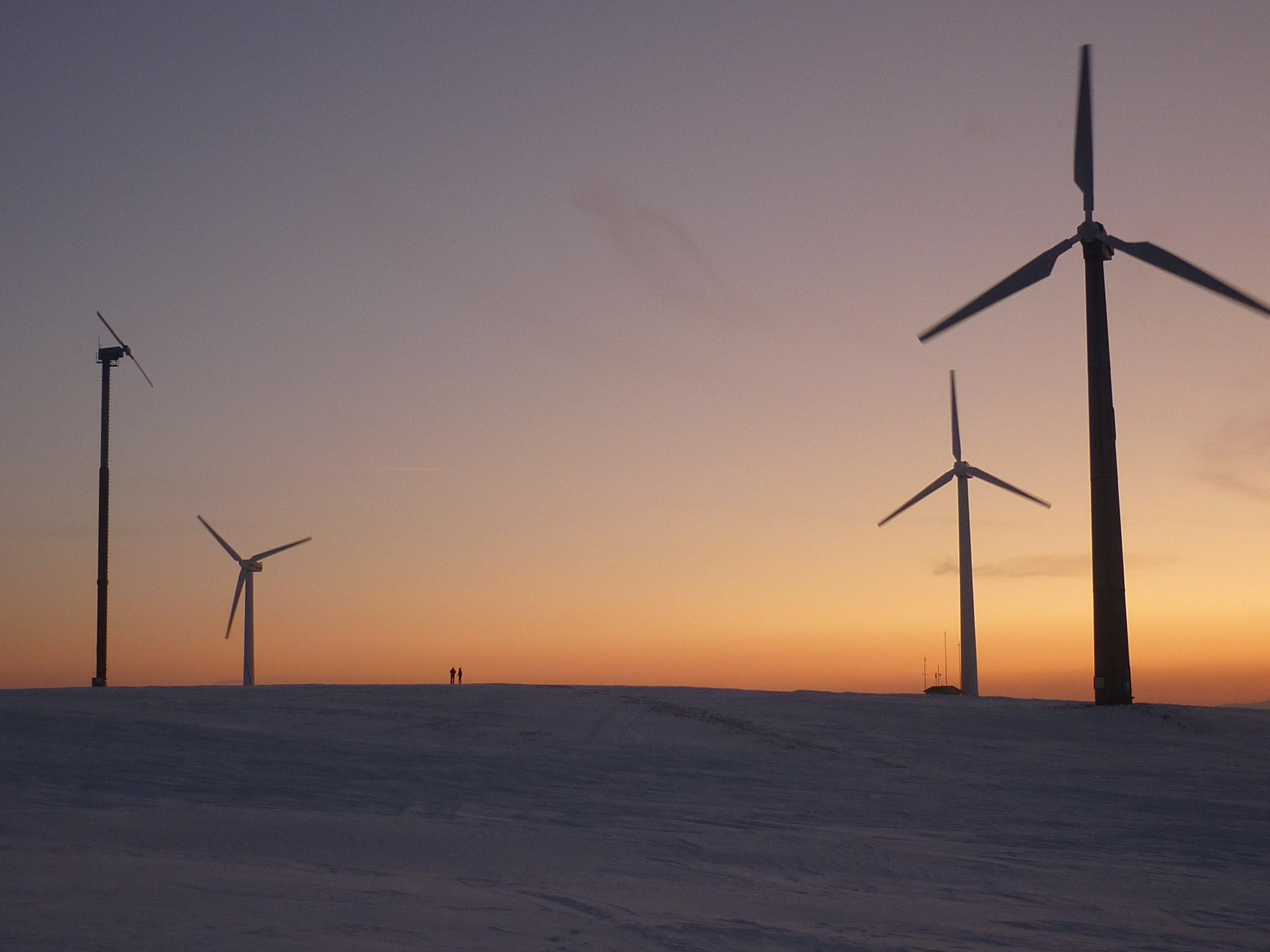 Sonnenuntergang am Hirtstein bei Satzung