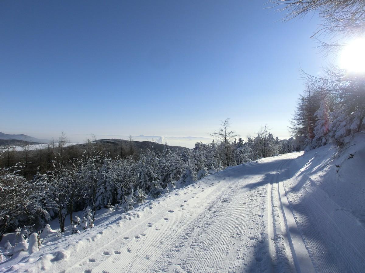 Von Lesna aus geht es bergab nach Nova Ves