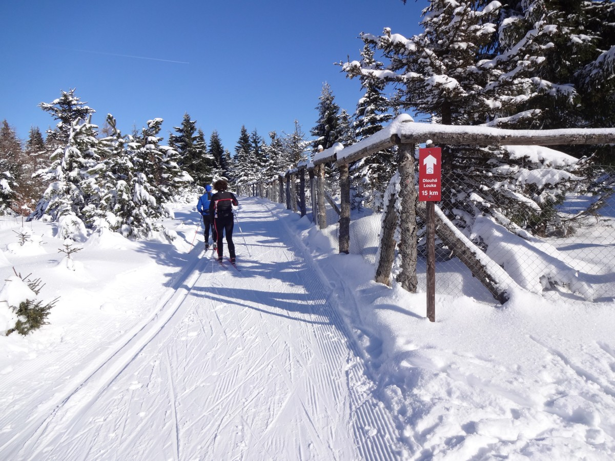 Skimagistrale nahe Göhrener Tor