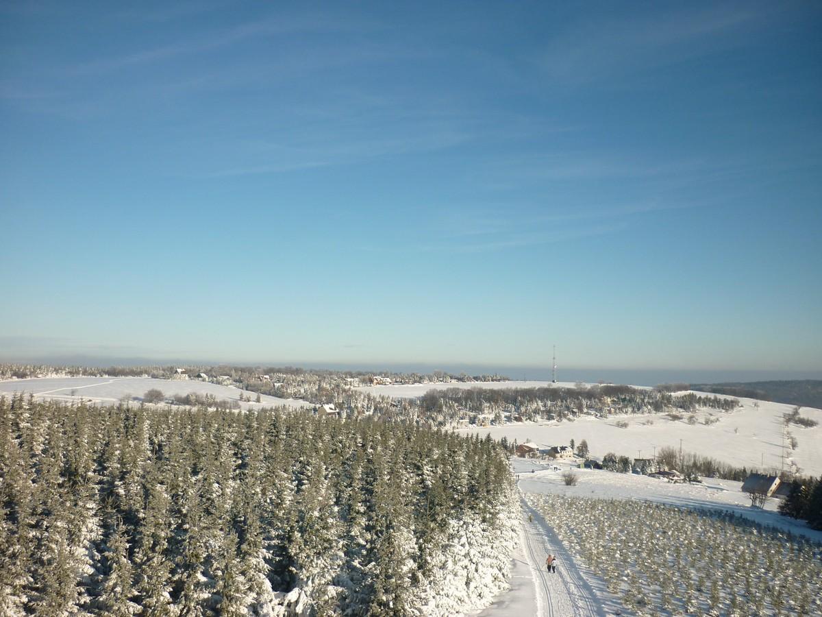 Blick vom Wolfsberg (Vlčí hora) bei Dlouha Louka - ein kleiner Umweg lohnt sich
