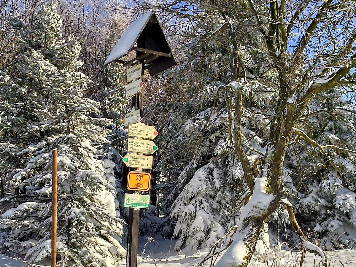 Skimagistrale - Ausschilderung im Loipengebiet Dlouha Louka