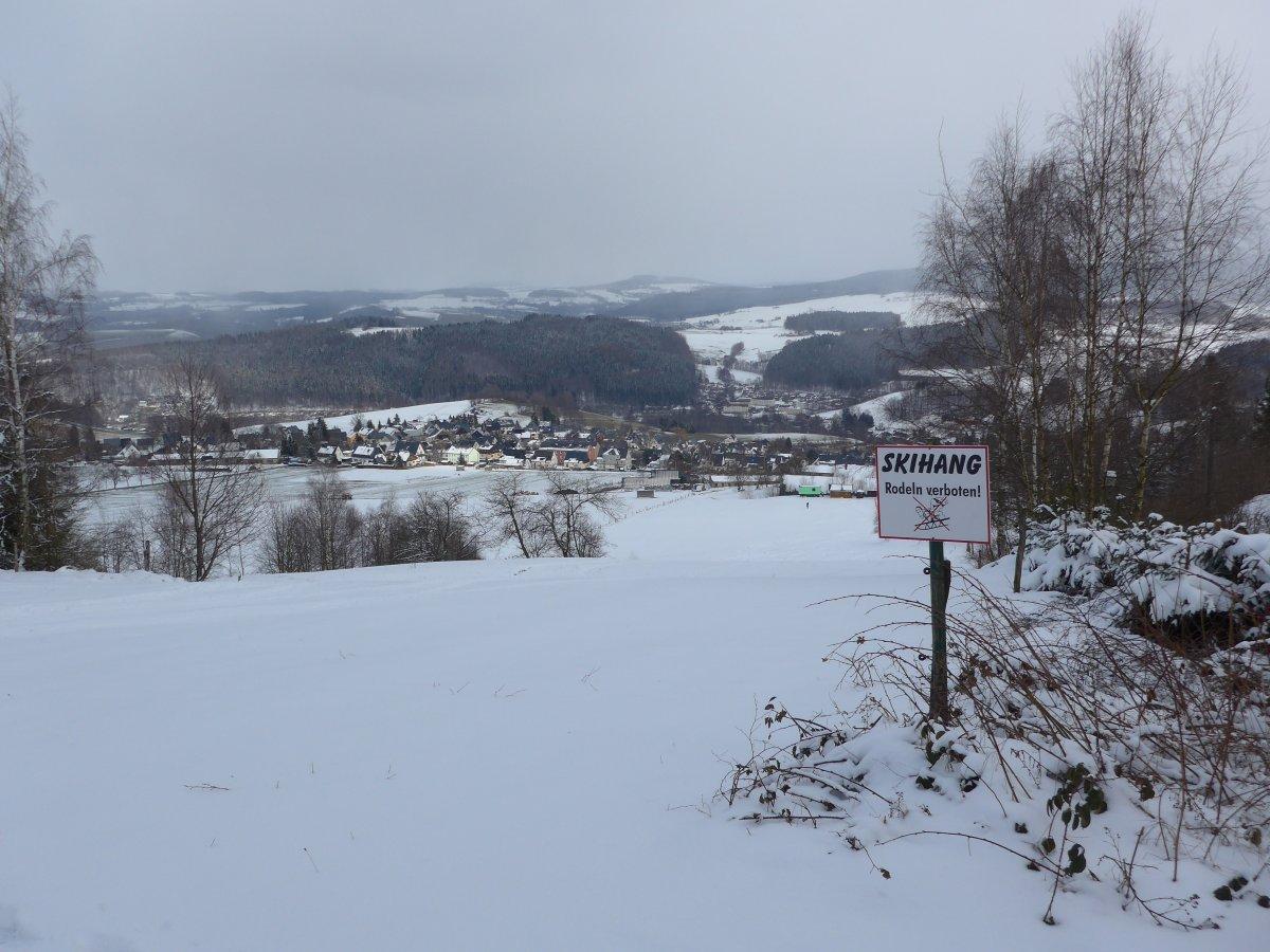 Skihang Bermsgrün bei Schwarzenberg
