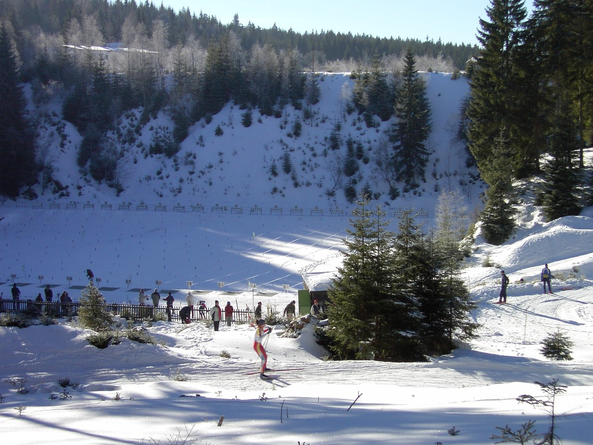 Biathlonanlage bei Jachymov