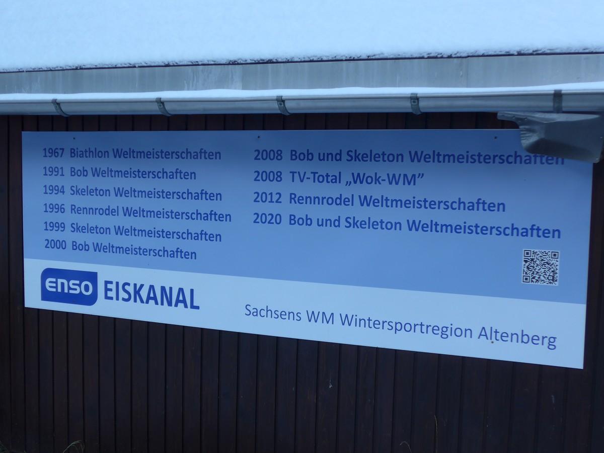 Highlights der letzten Jahre auf der Bob- und Rennschlittenbahn bei Altenberg