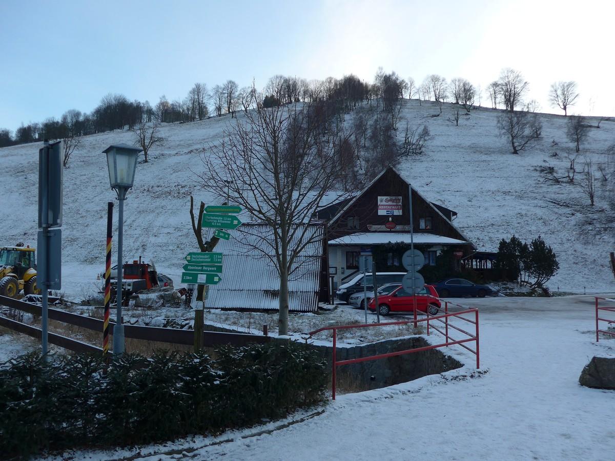 Skihang Hora Svate Kateriny unmittelbar an der deutschen Grenze