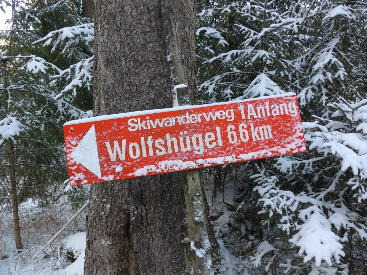 Startpunkt Skiwanderweg Wolfshügel
