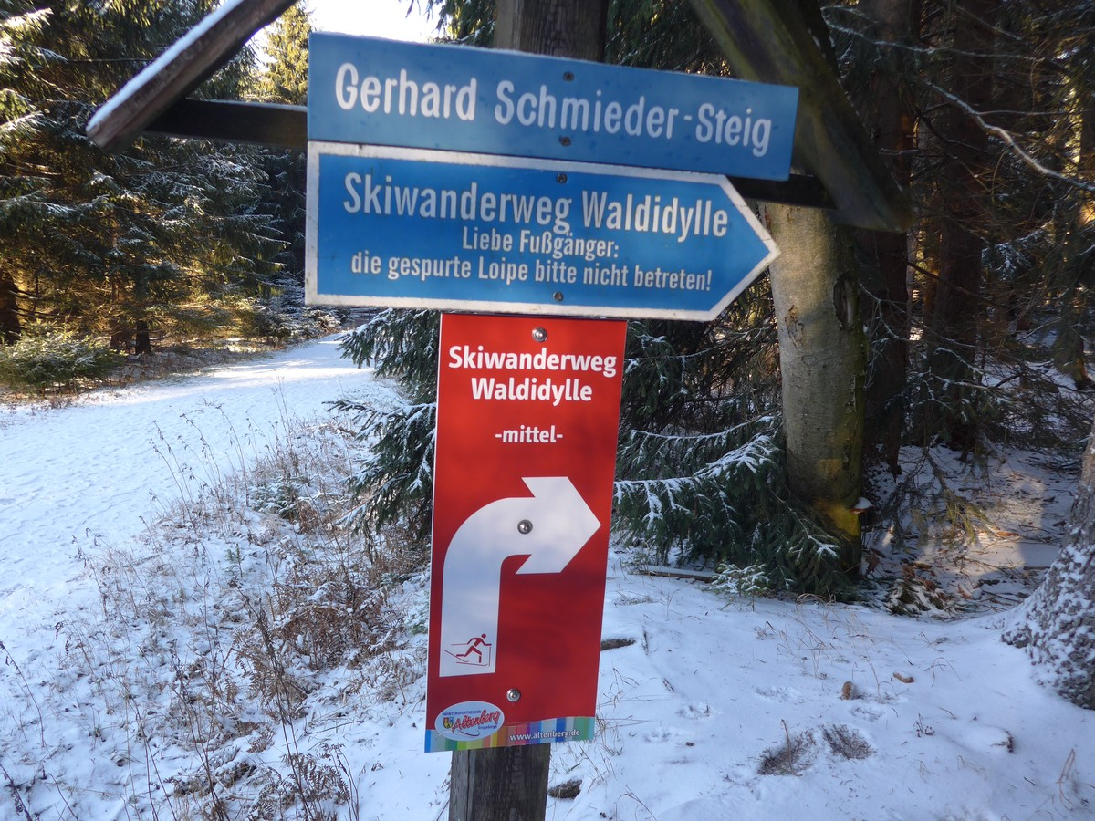 Loipe_Altenberg17 Waldidylle