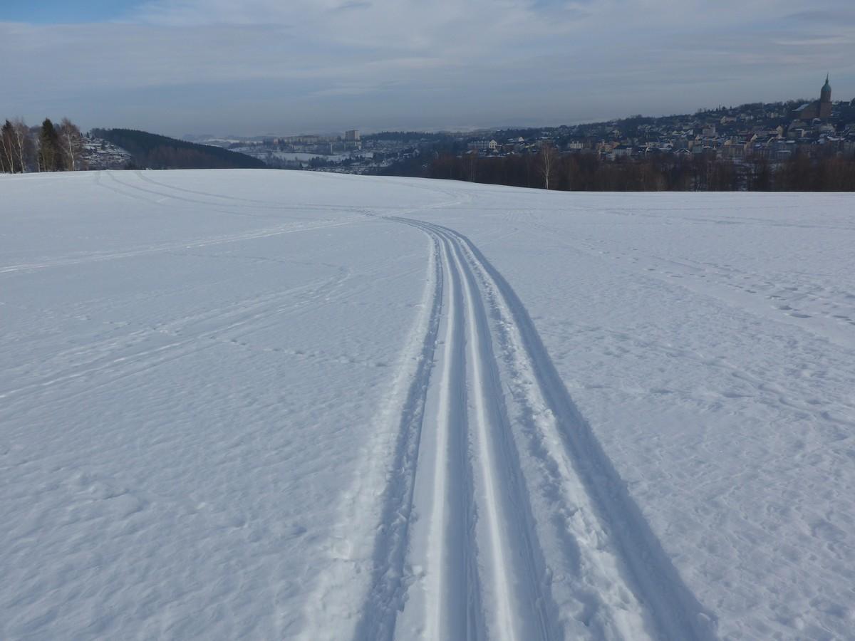 Einfach gespurte Skiwanderwege bei Annaberg-Buchholz