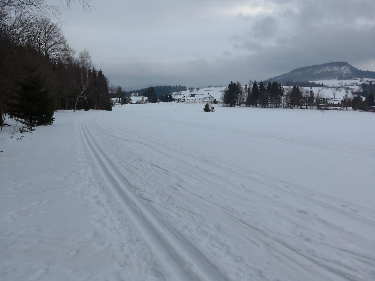 Skiwanderweg bei Kühberg