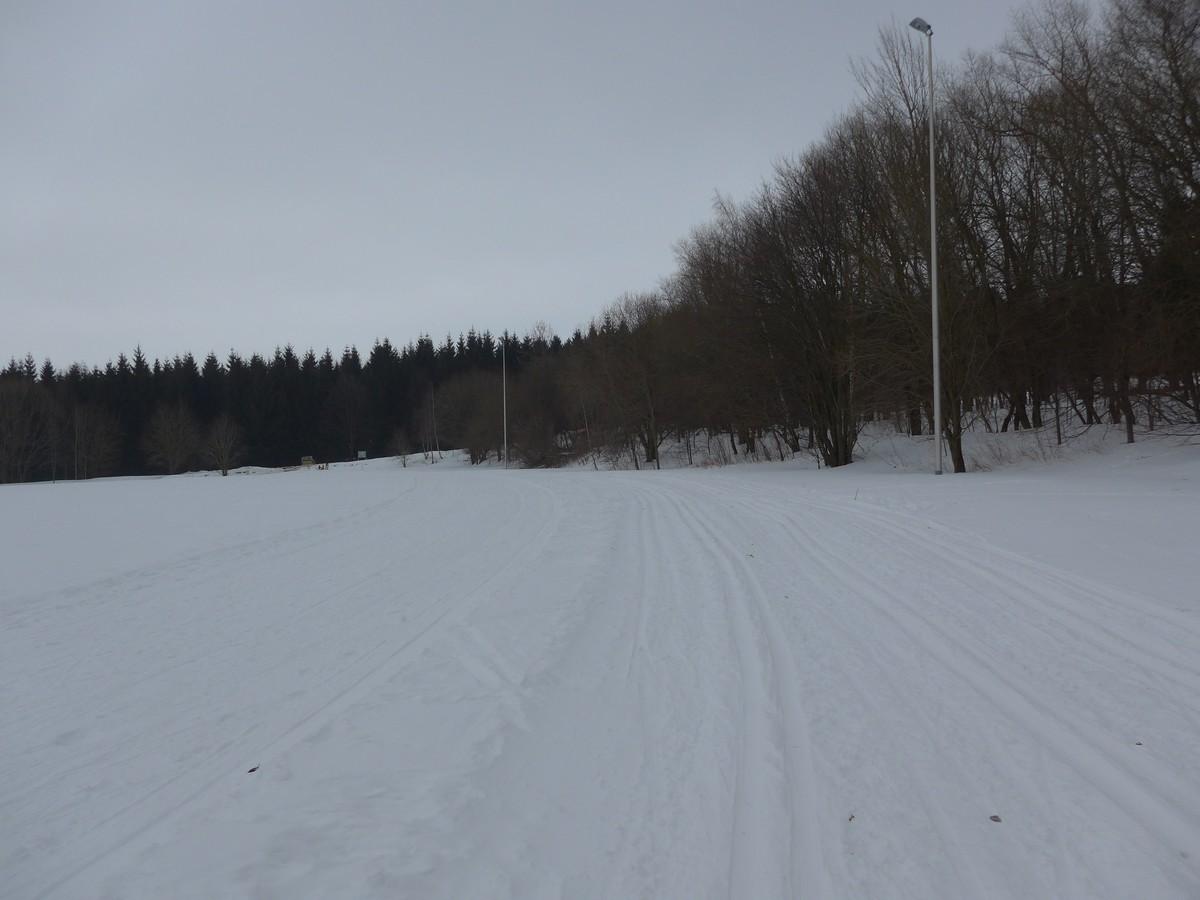 Loipe am Mischplatz bei Annaberg-Buchholz - gute Trainingsstrecke
