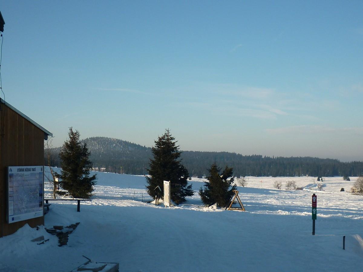 Loipeneinstieg Bozi Dar - Blick Richtung Hochmoor