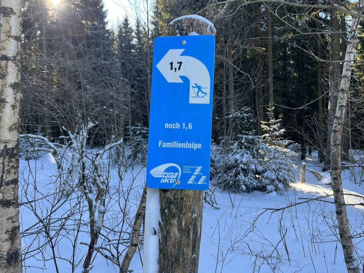 Loipeneinstieg am Sportpark Rabenberg