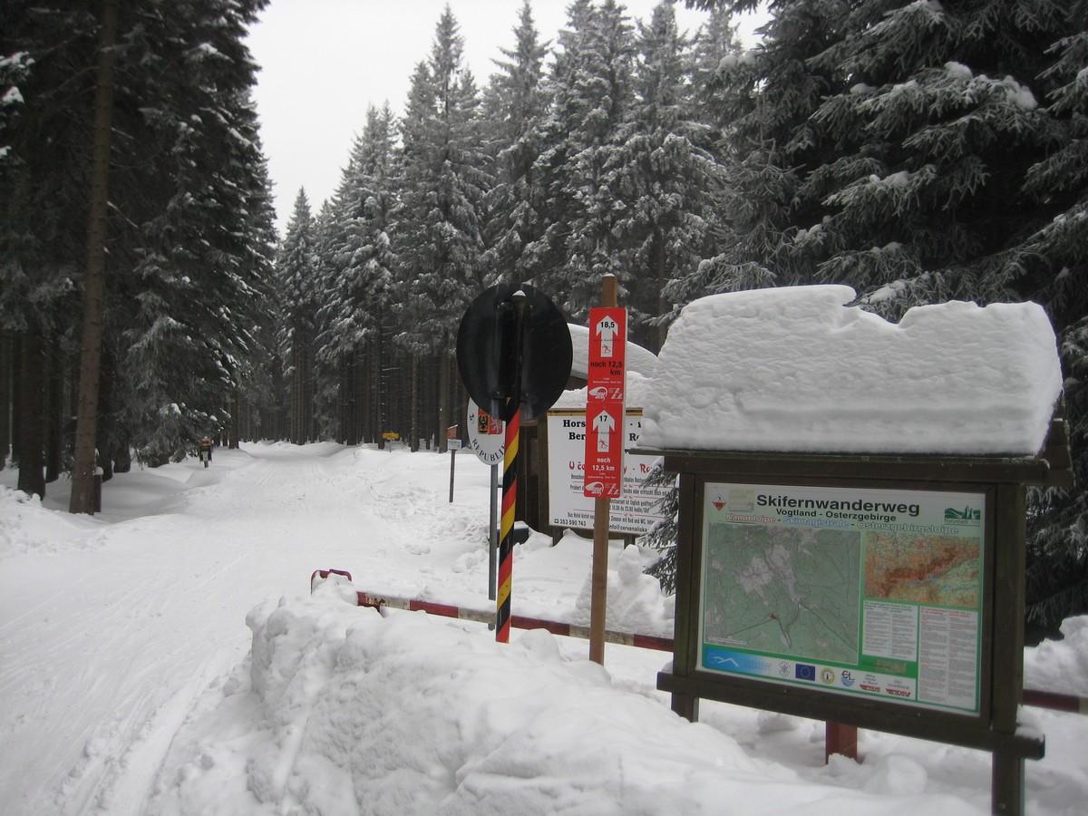 Grenzübergang Himmelswiese bei Breitenbunn / Halbemeile