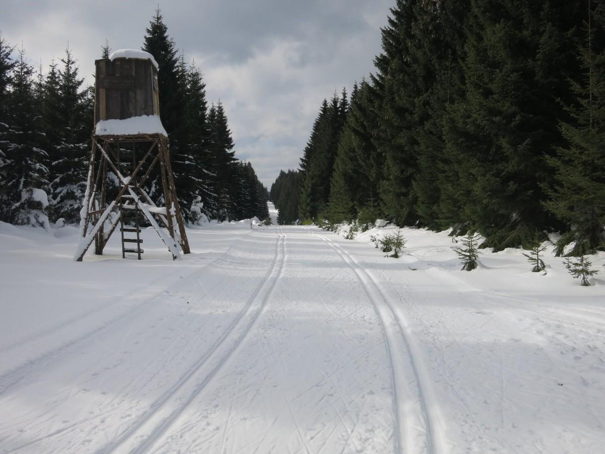 Skimagistrale im Bereich Bublava auf dem Gebirgskamm