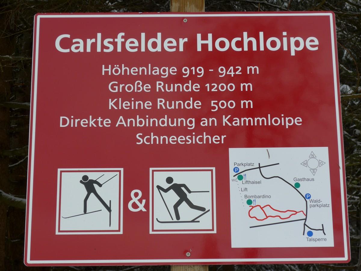 Loipentafel Hochloipe Carlsfeld