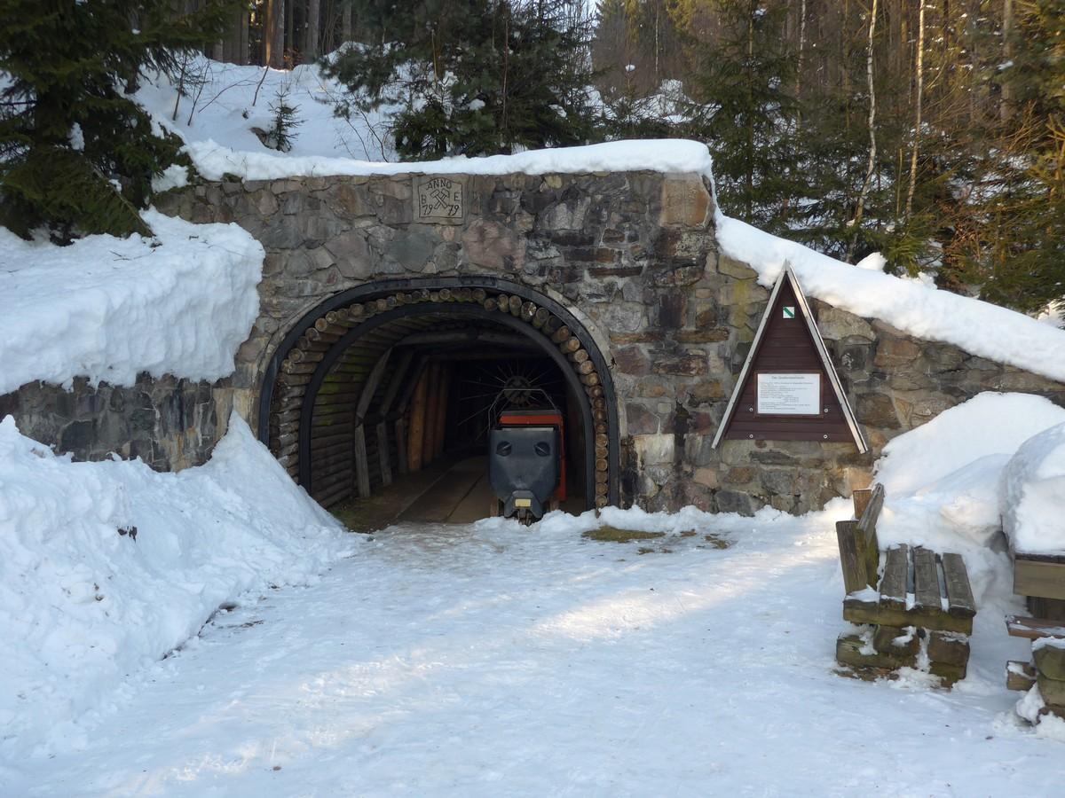 Greifensteinstollen im Winter