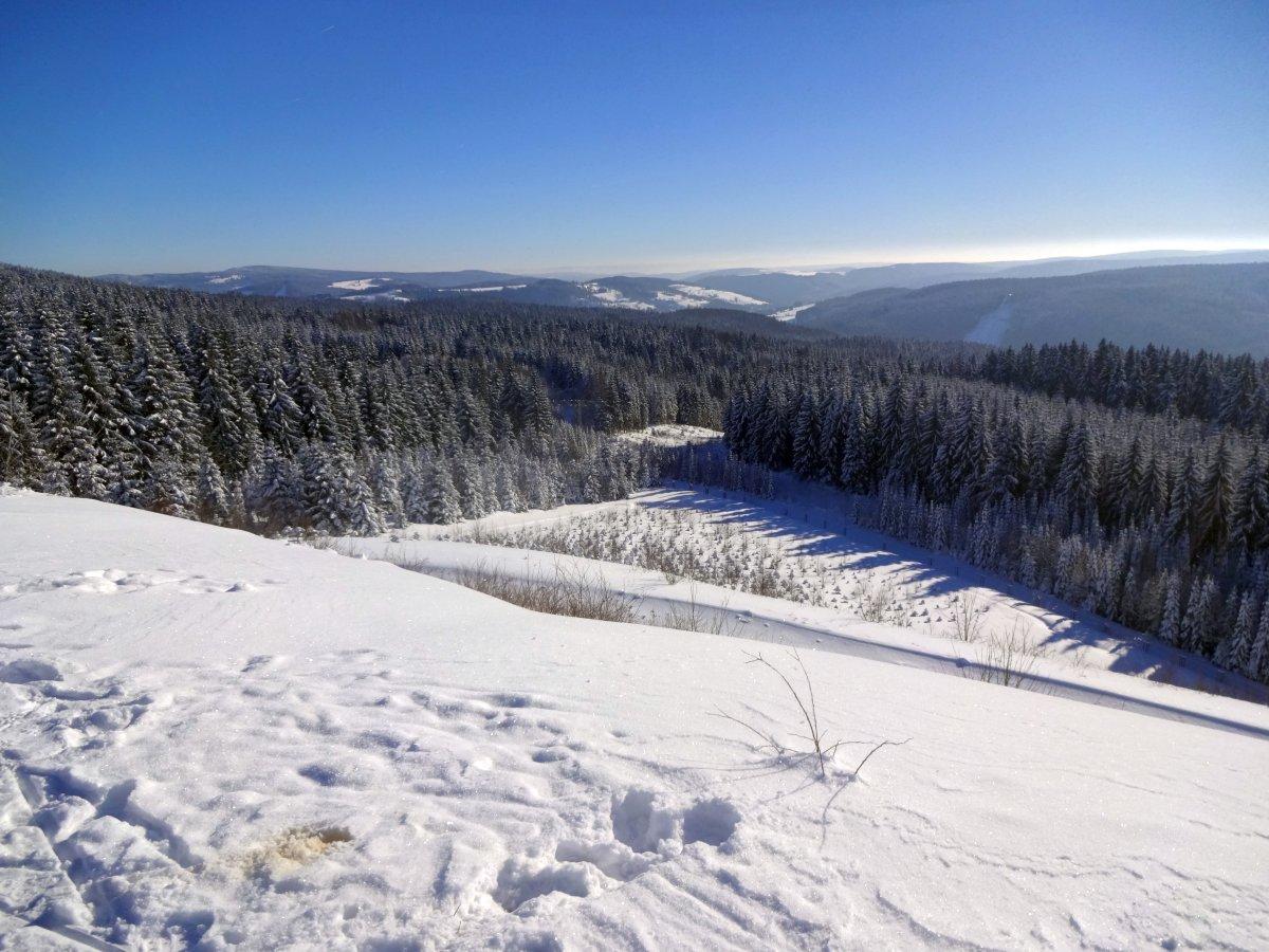 Schneckenstein-Aussicht ins Obere Vogtland