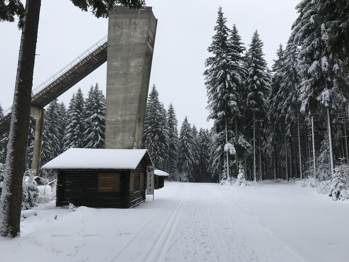 Wettkampfloipen an der alten Erzgebirgsschanze Johanngeorgenstadt