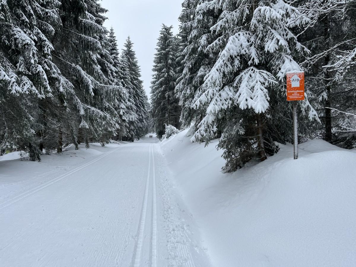 Winterlandschaft nahe Aschberg