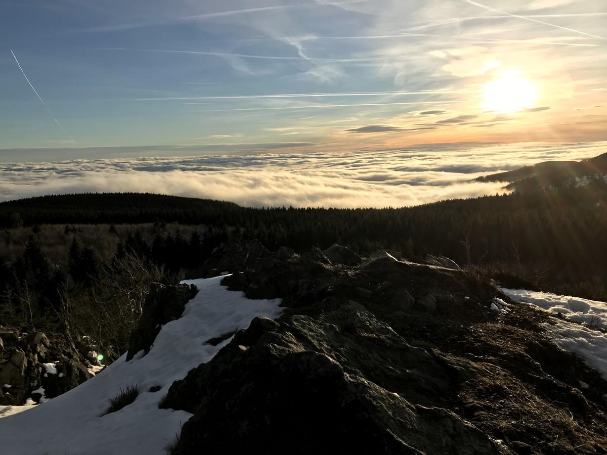 Blick vom Meluzina im Winter mit herrlicher Fernsicht