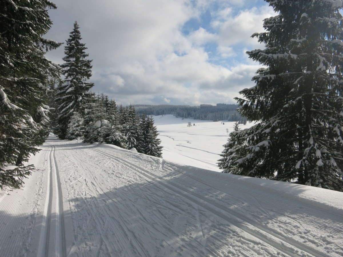 Bei Hirschenstand / Jeleni - Anschluss zur Kammloipe
