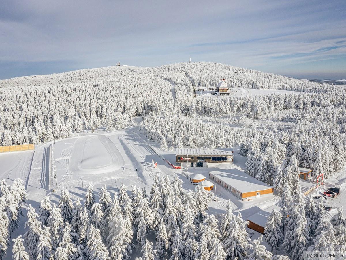 Im Loipengebiet Oberwiesenthal nahe Skiarena