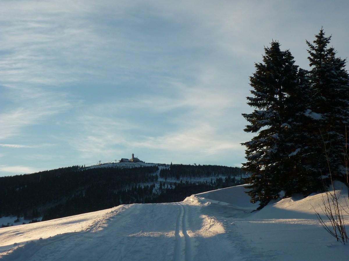 Skiwanderweg Hammerunterwiesenthal - Blick zum Fichtelberg