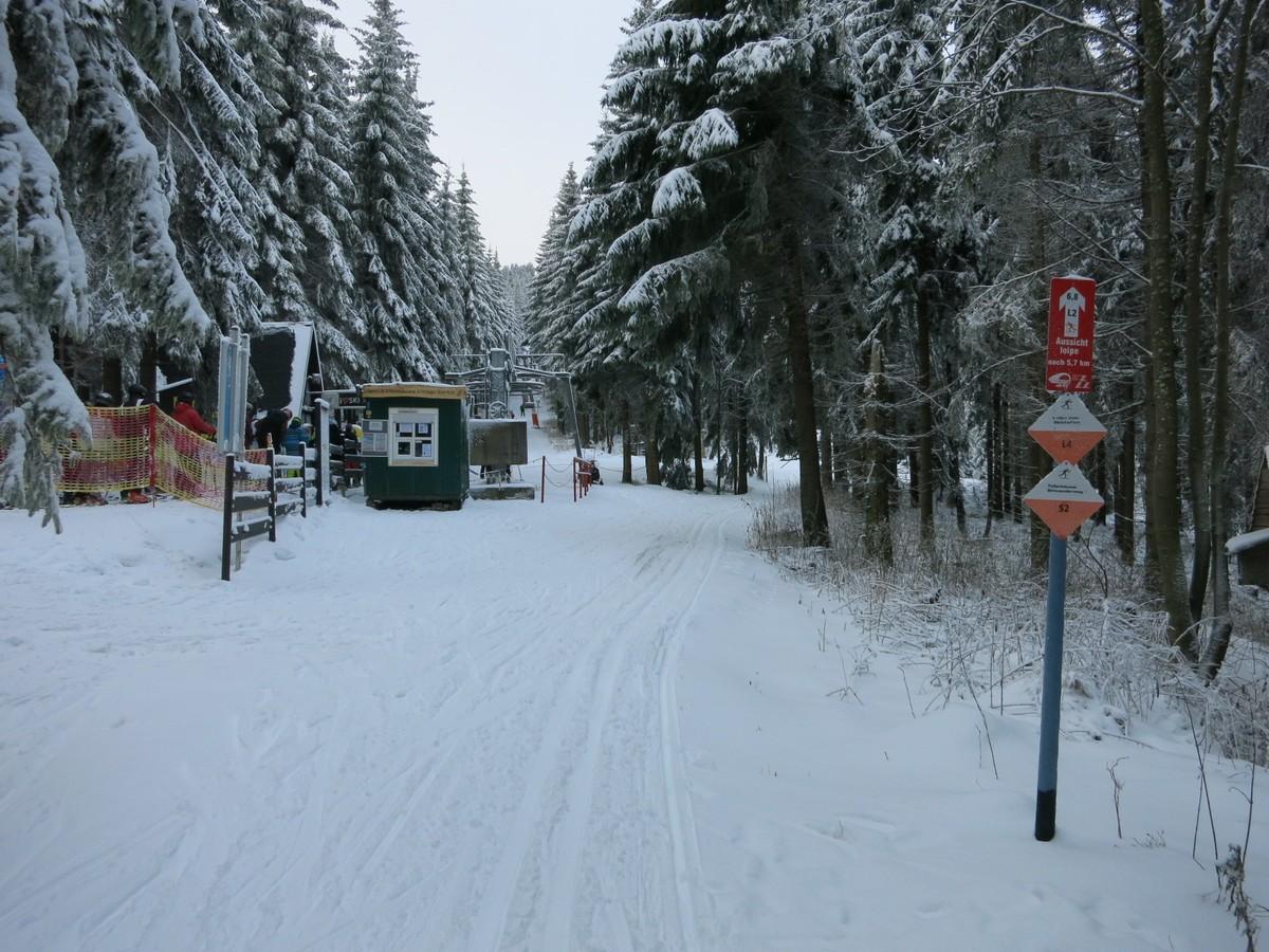 Aussichtsloipe Oberwiesenthal nahe Himmelsleiter