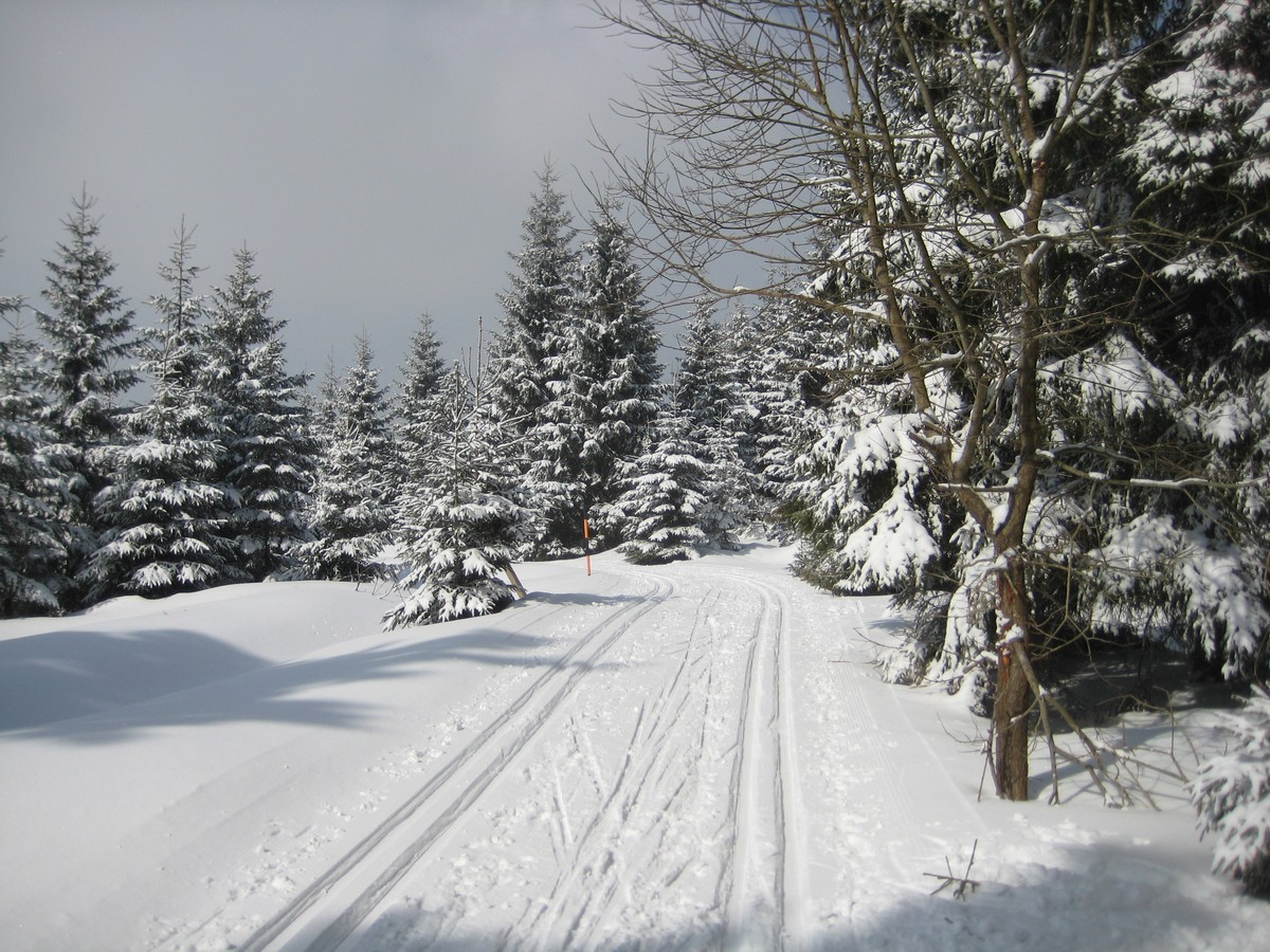Skimagistrale nahe Grenzübergang Deutsches Gehau