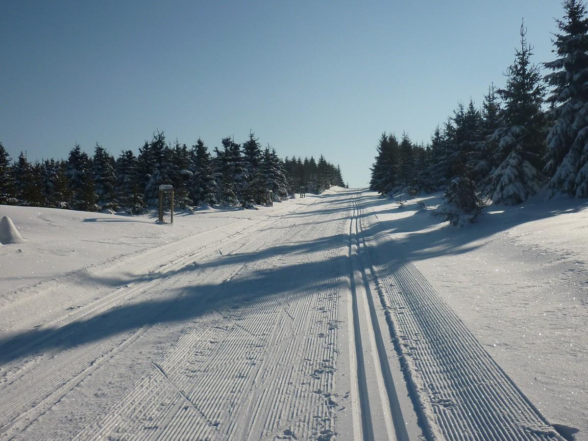 Skimagistrale zwischen Jeleni und Pernink - auch für Skating präpariert