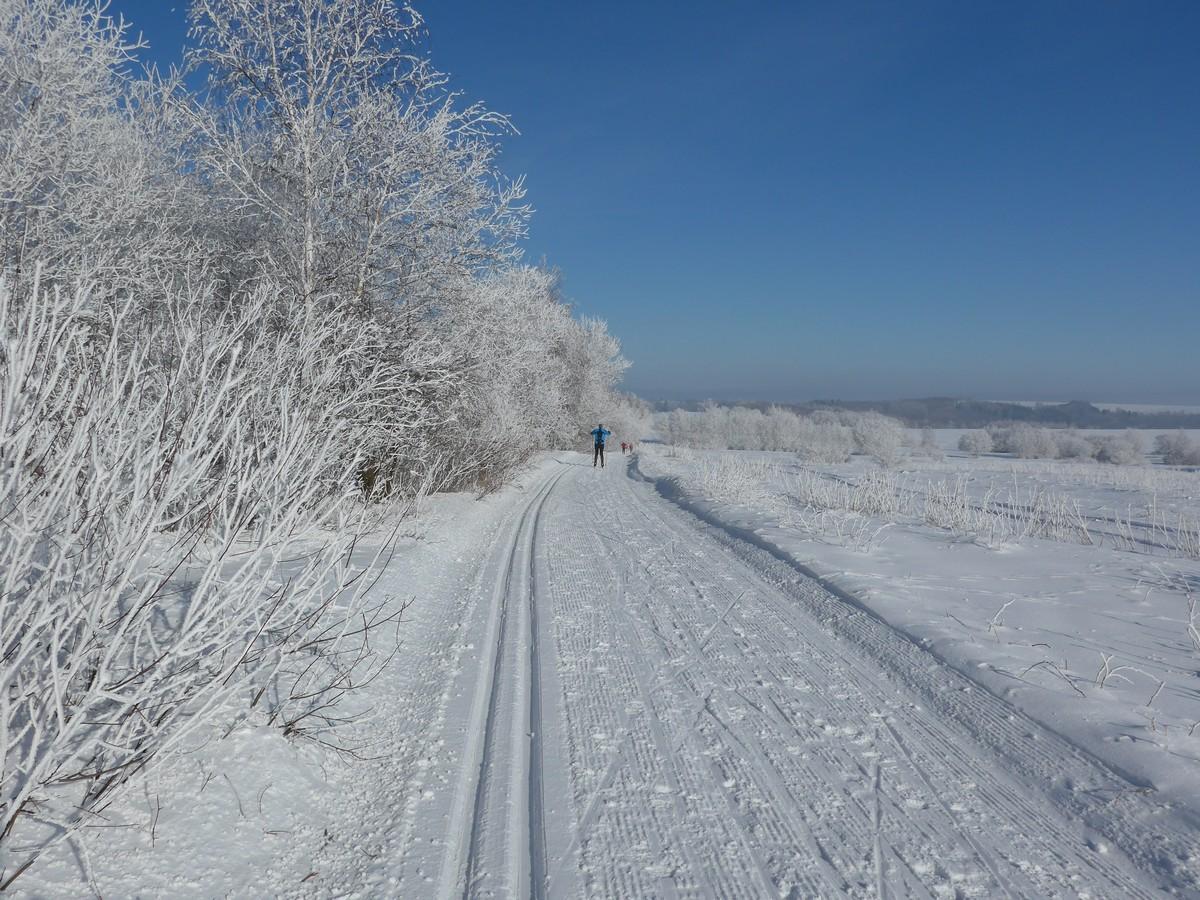 Skimagistrale KLM zwischen Krasny Les und Petrovice