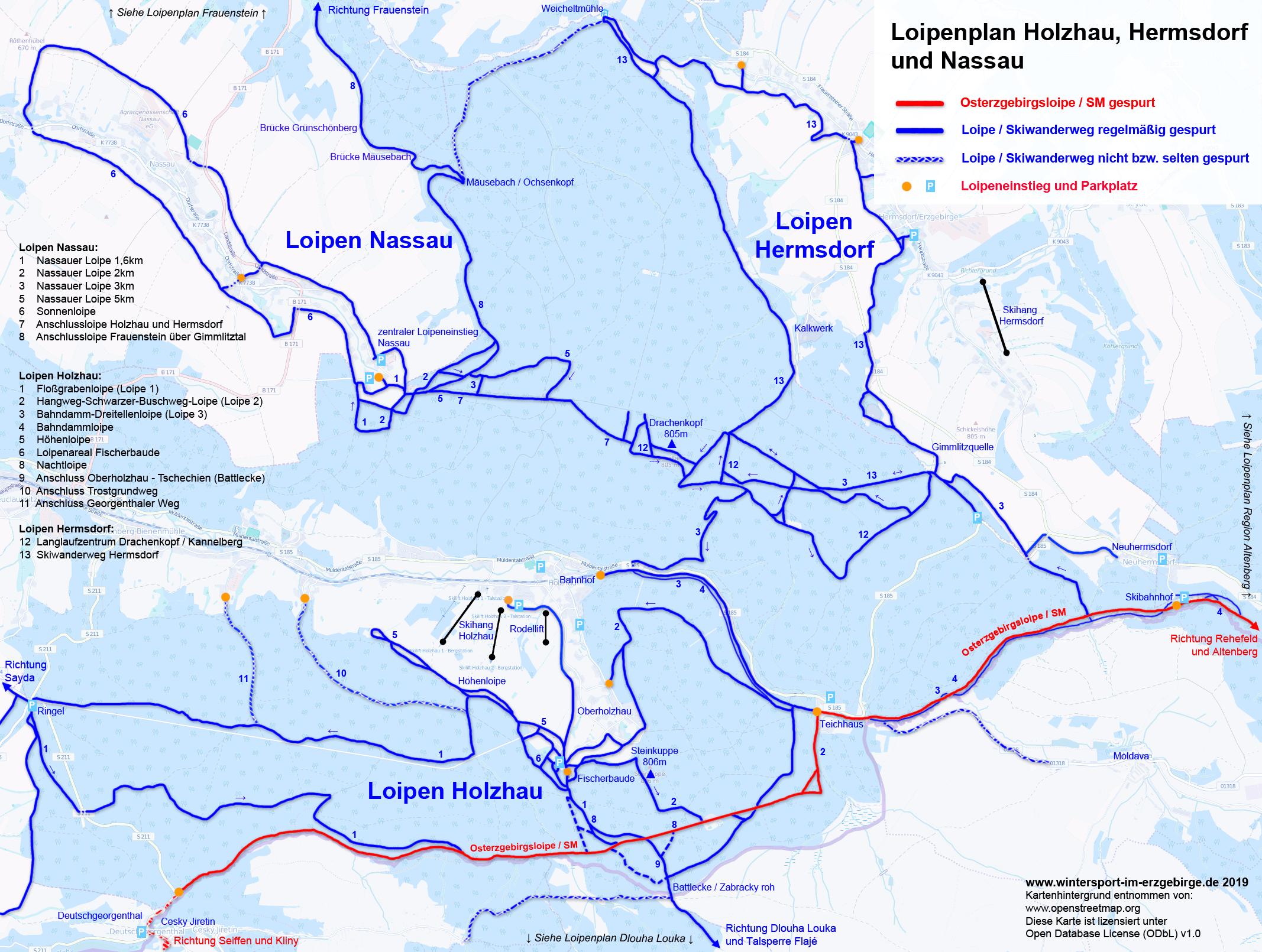 Loipenplan Holzhau