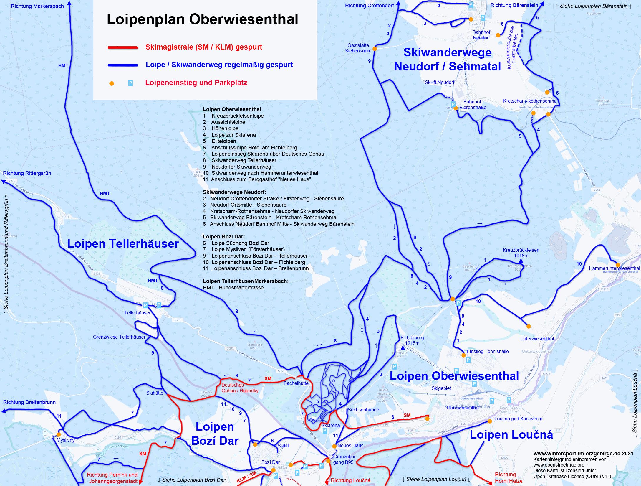 Loipenplan Oberwiesenthal