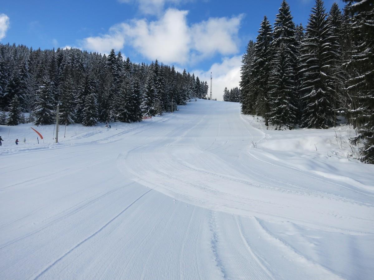 Skihang bei Nove Hamry