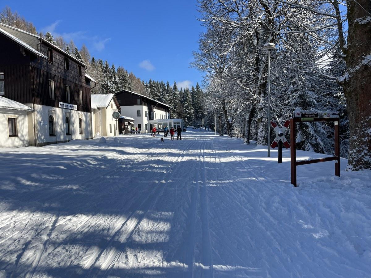 Skibahnhof Neuhermsdorf an der Bahndammloipe