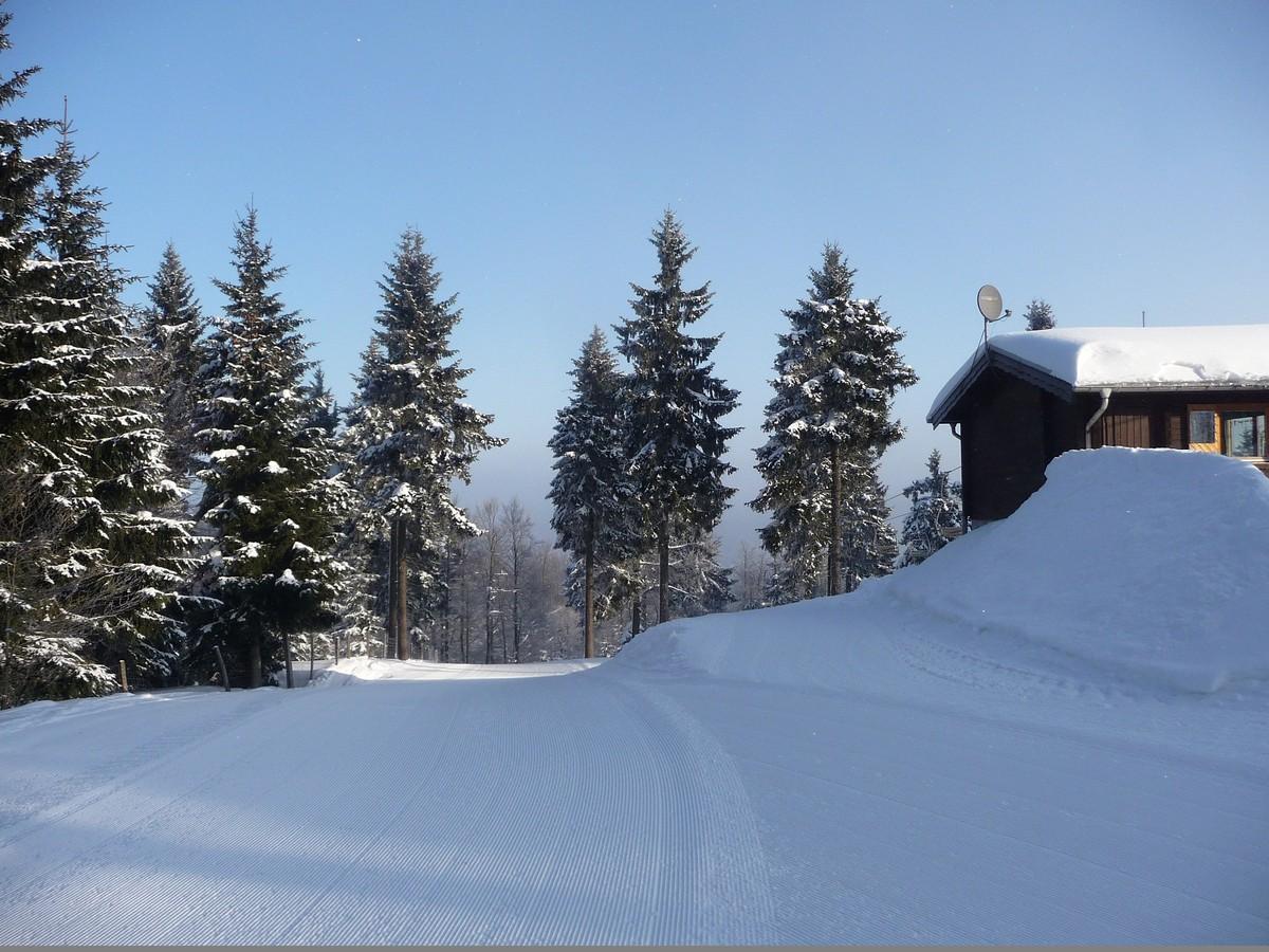 Bergstation des Sessellifts bei Rehefeld