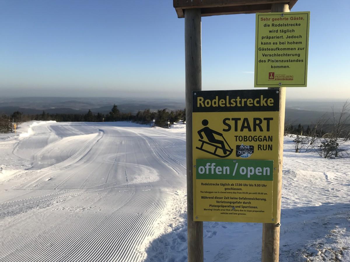 Längste Rodelbahn im Erzgebirge am Fichtelberg