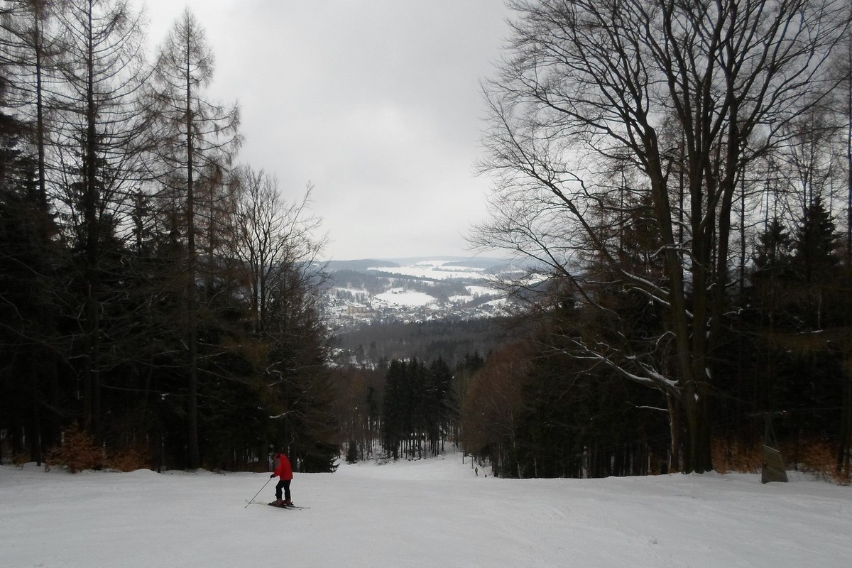 Skigebiet Sebnitz - Piste am Buchberglift