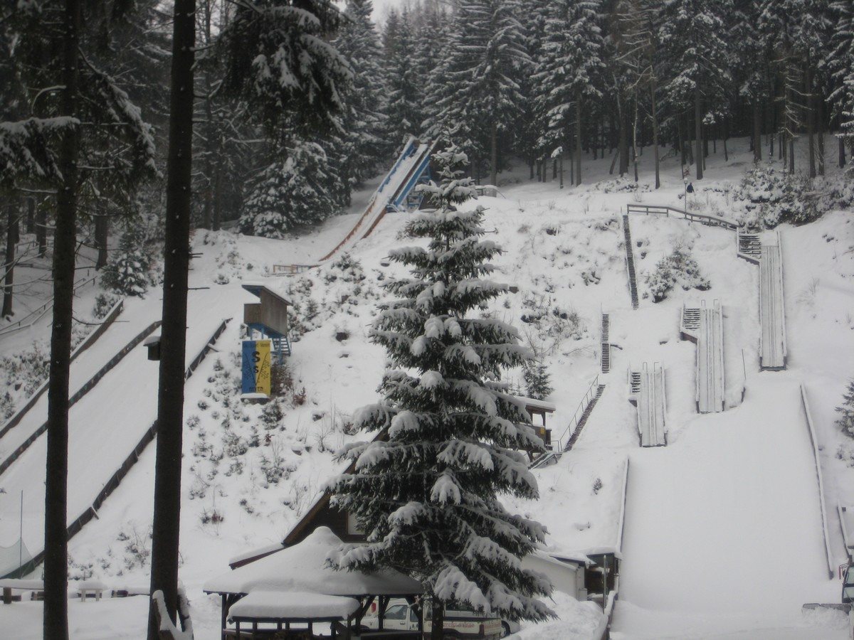 Skisprungschanzen im Greifenbachtal bei Geyer (Eric-Frenzel-Schanzen)