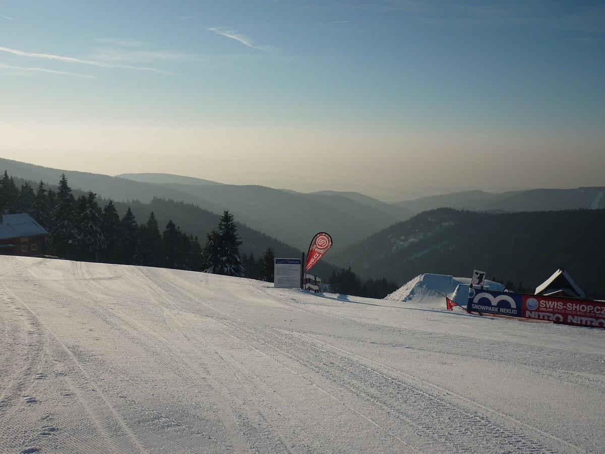 Snowpark bei Neklid (Bozi Dar, Klinovec)