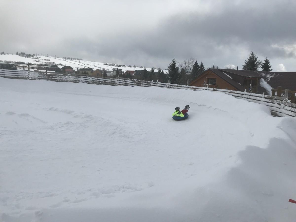 Snowtubing - modellierte Rodelbahn