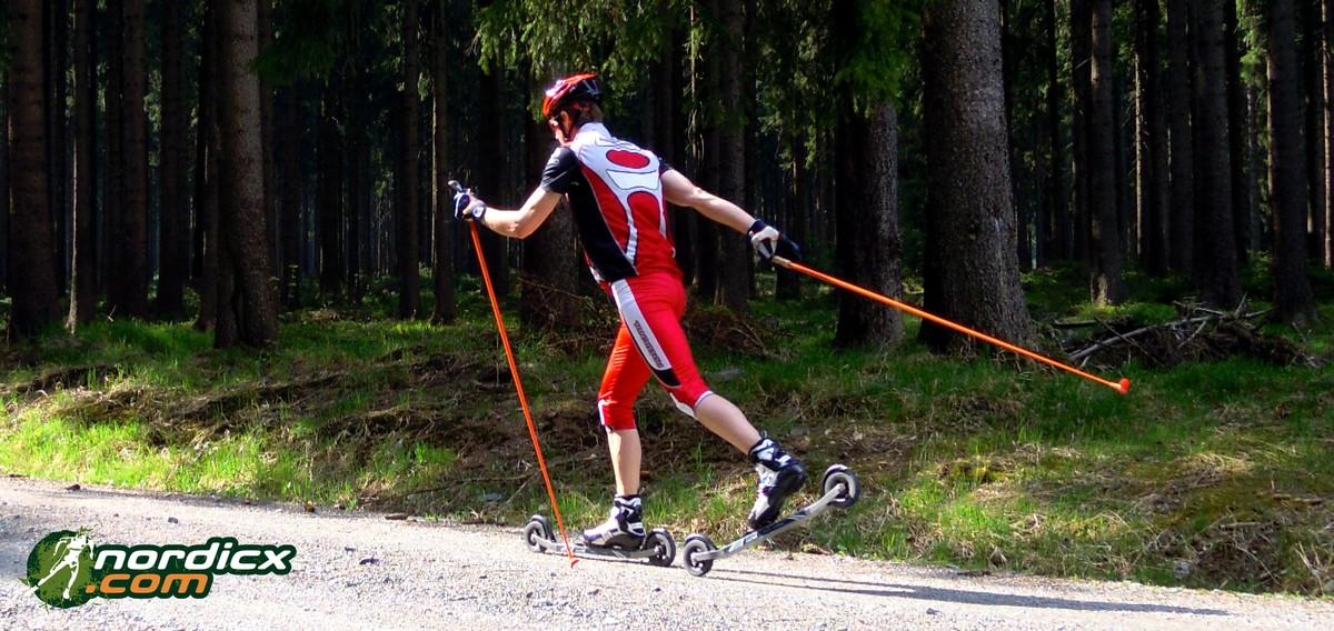 Training mit Classic-Stil mit Rollski