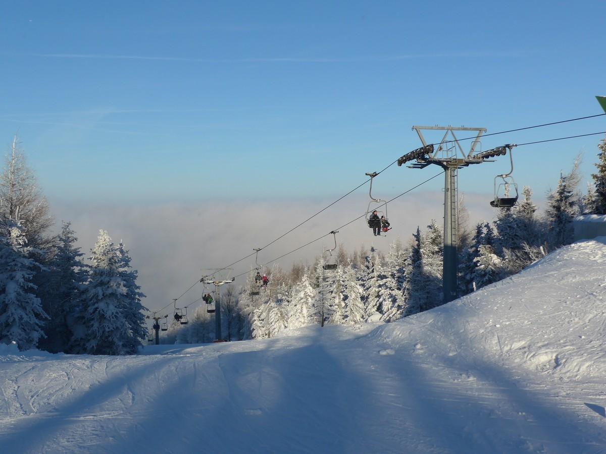 Skigebiet Telnice mit Sessellift