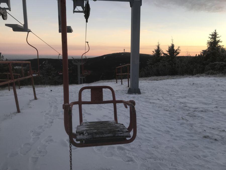 1er Sessellift am Kleinen Fichtelberg - seit Jahren nicht mehr in Betrieb