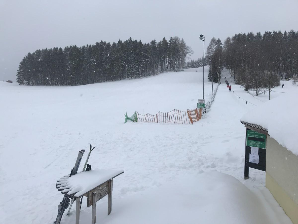 Skilift und Skihang Zwönitz