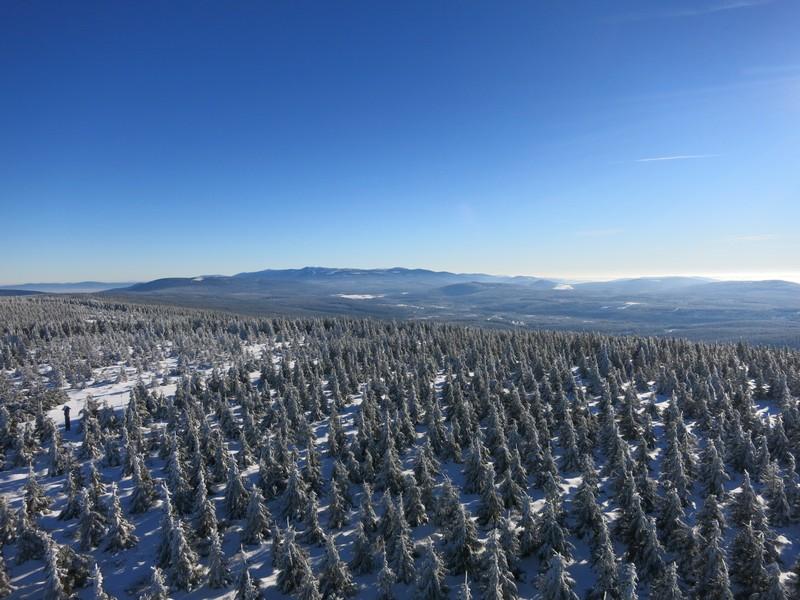 Blick vom Aussichtsurm Richtung Riesengebirge