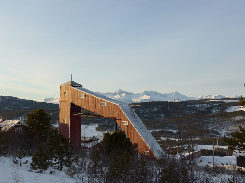 Blick vom Schaubergwerk ins Rondane-Gebirge