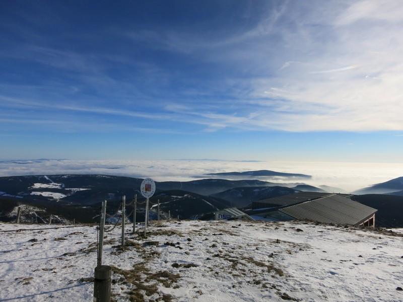 Panoramablick auf der Schneekoppe