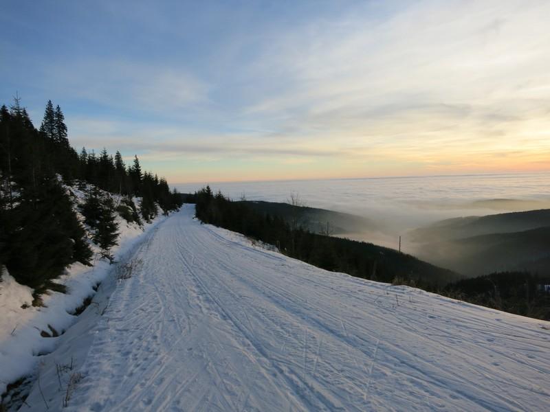 Auf der Riesengebirgsskimagistrale nahe Pec pod Snežkou